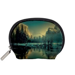 Yosemite Park Landscape Sunrise Accessory Pouches (small)