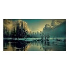 Yosemite Park Landscape Sunrise Satin Shawl