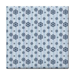 Snowflakes Winter Christmas Card Tile Coasters