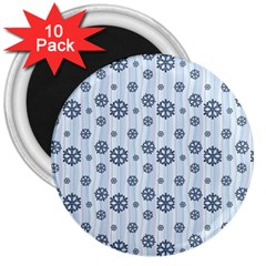 Snowflakes Winter Christmas Card 3  Magnets (10 Pack)