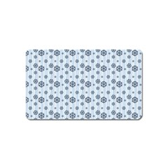Snowflakes Winter Christmas Card Magnet (name Card)