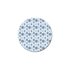 Snowflakes Winter Christmas Card Golf Ball Marker (4 Pack)