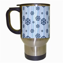 Snowflakes Winter Christmas Card Travel Mugs (white)