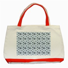 Snowflakes Winter Christmas Card Classic Tote Bag (red)