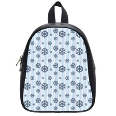 Snowflakes Winter Christmas Card School Bag (small)