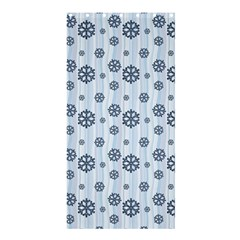 Snowflakes Winter Christmas Card Shower Curtain 36  X 72  (stall)