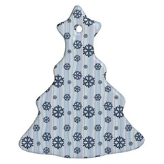 Snowflakes Winter Christmas Card Christmas Tree Ornament (two Sides)
