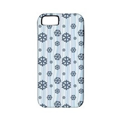 Snowflakes Winter Christmas Card Apple Iphone 5 Classic Hardshell Case (pc+silicone)