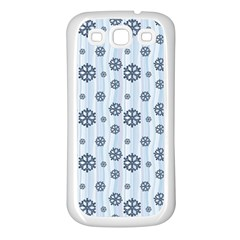Snowflakes Winter Christmas Card Samsung Galaxy S3 Back Case (white)