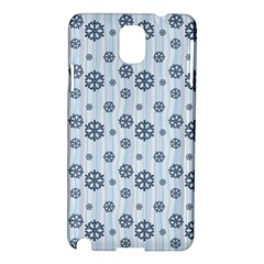 Snowflakes Winter Christmas Card Samsung Galaxy Note 3 N9005 Hardshell Case