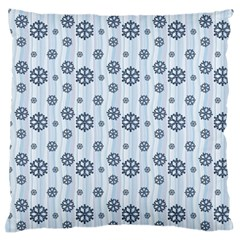 Snowflakes Winter Christmas Card Large Flano Cushion Case (two Sides)
