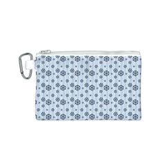 Snowflakes Winter Christmas Card Canvas Cosmetic Bag (s)