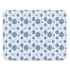 Snowflakes Winter Christmas Card Double Sided Flano Blanket (large)
