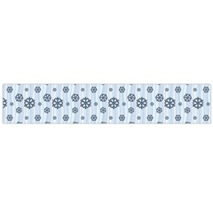 Snowflakes Winter Christmas Card Large Flano Scarf