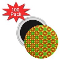 Pattern Texture Christmas Colors 1 75  Magnets (100 Pack)