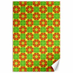 Pattern Texture Christmas Colors Canvas 24  X 36