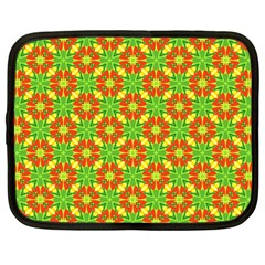 Pattern Texture Christmas Colors Netbook Case (large)