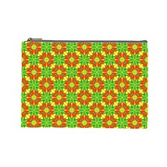 Pattern Texture Christmas Colors Cosmetic Bag (large)