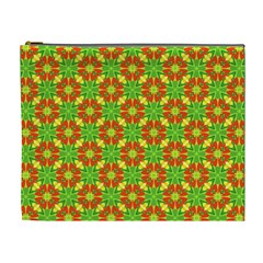 Pattern Texture Christmas Colors Cosmetic Bag (xl)