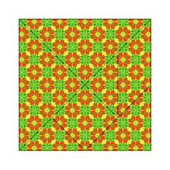 Pattern Texture Christmas Colors Acrylic Tangram Puzzle (6  X 6 )
