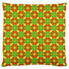 Pattern Texture Christmas Colors Large Cushion Case (two Sides)