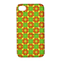 Pattern Texture Christmas Colors Apple Iphone 4/4s Hardshell Case With Stand