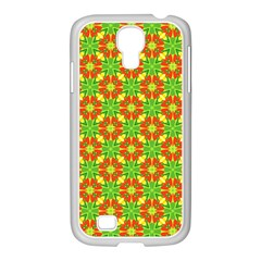 Pattern Texture Christmas Colors Samsung Galaxy S4 I9500/ I9505 Case (white)