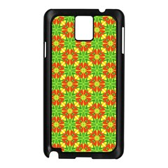 Pattern Texture Christmas Colors Samsung Galaxy Note 3 N9005 Case (black)