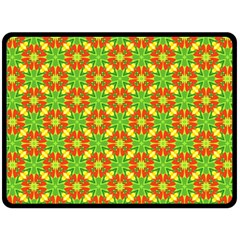 Pattern Texture Christmas Colors Double Sided Fleece Blanket (large)