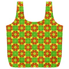 Pattern Texture Christmas Colors Full Print Recycle Bags (l)