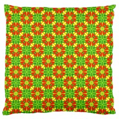 Pattern Texture Christmas Colors Large Flano Cushion Case (one Side)