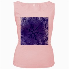 Winter Hardest Frost Cold Women s Pink Tank Top