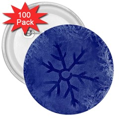 Winter Hardest Frost Cold 3  Buttons (100 Pack)