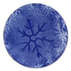 Winter Hardest Frost Cold Magnet 5  (round)