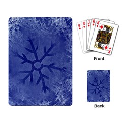 Winter Hardest Frost Cold Playing Card