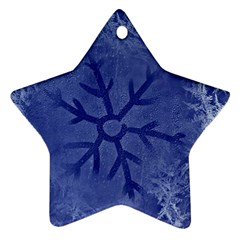 Winter Hardest Frost Cold Star Ornament (two Sides)