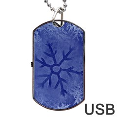 Winter Hardest Frost Cold Dog Tag Usb Flash (two Sides)