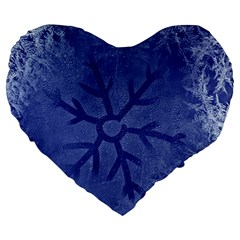 Winter Hardest Frost Cold Large 19  Premium Heart Shape Cushions