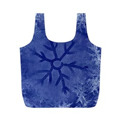 Winter Hardest Frost Cold Full Print Recycle Bags (m)