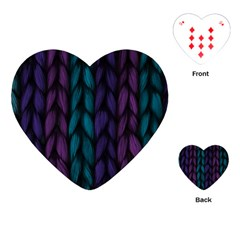 Background Weave Plait Blue Purple Playing Cards (heart)