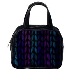 Background Weave Plait Blue Purple Classic Handbags (one Side)