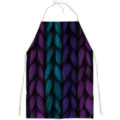 Background Weave Plait Blue Purple Full Print Aprons
