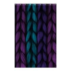 Background Weave Plait Blue Purple Shower Curtain 48  X 72  (small)