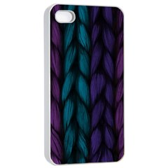 Background Weave Plait Blue Purple Apple Iphone 4/4s Seamless Case (white)