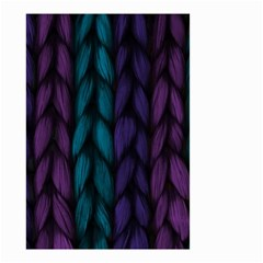 Background Weave Plait Blue Purple Small Garden Flag (two Sides)