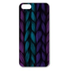 Background Weave Plait Blue Purple Apple Seamless Iphone 5 Case (clear)