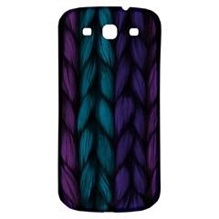 Background Weave Plait Blue Purple Samsung Galaxy S3 S Iii Classic Hardshell Back Case