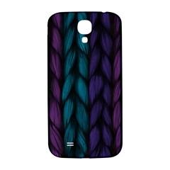 Background Weave Plait Blue Purple Samsung Galaxy S4 I9500/i9505  Hardshell Back Case