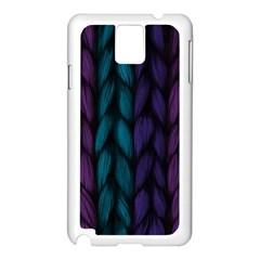Background Weave Plait Blue Purple Samsung Galaxy Note 3 N9005 Case (white)