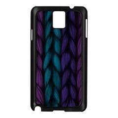 Background Weave Plait Blue Purple Samsung Galaxy Note 3 N9005 Case (black)